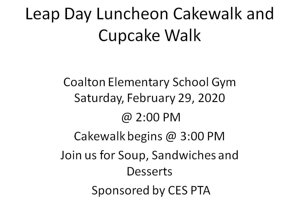 This image has an empty alt attribute; its file name is Leap-Day-Luncheon-Cakewalk-and-Cupcake-Walk.jpg