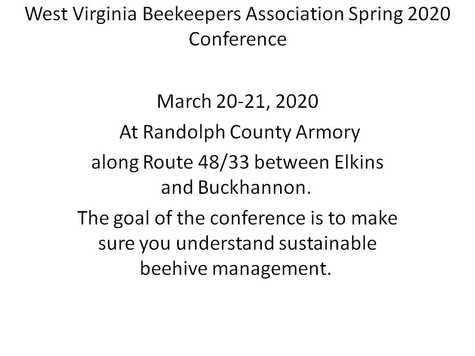 This image has an empty alt attribute; its file name is West-Virginia-Beekeepers-Association-Spring-2020-Conference.jpg